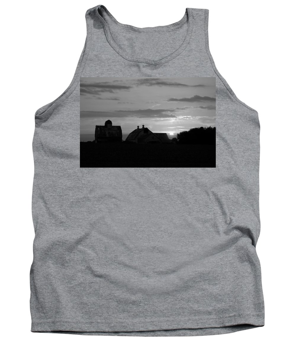 Day Tank Top featuring the photograph End Of Day Bw by Bonfire Photography