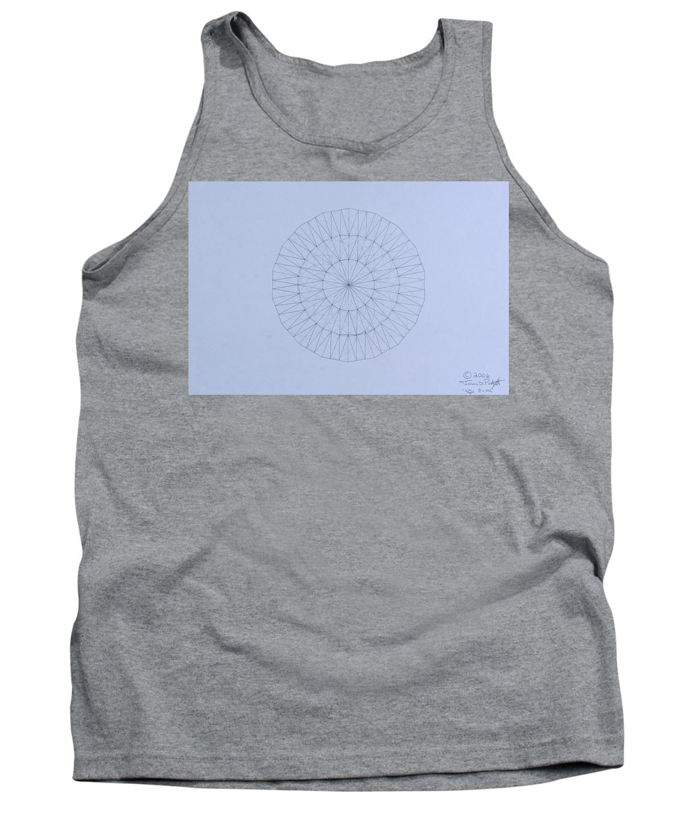 Jason Padgett Tank Top featuring the drawing Energy Wave 20 Degree Frequency by Jason Padgett