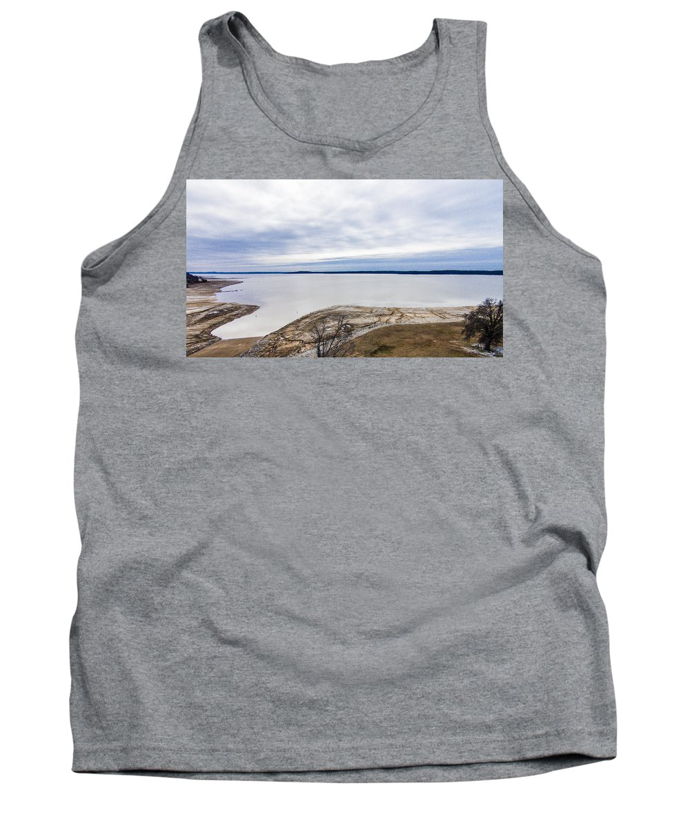 Enid Lake Tank Top featuring the photograph Enid Lake - Winter Landscape by Barry Jones