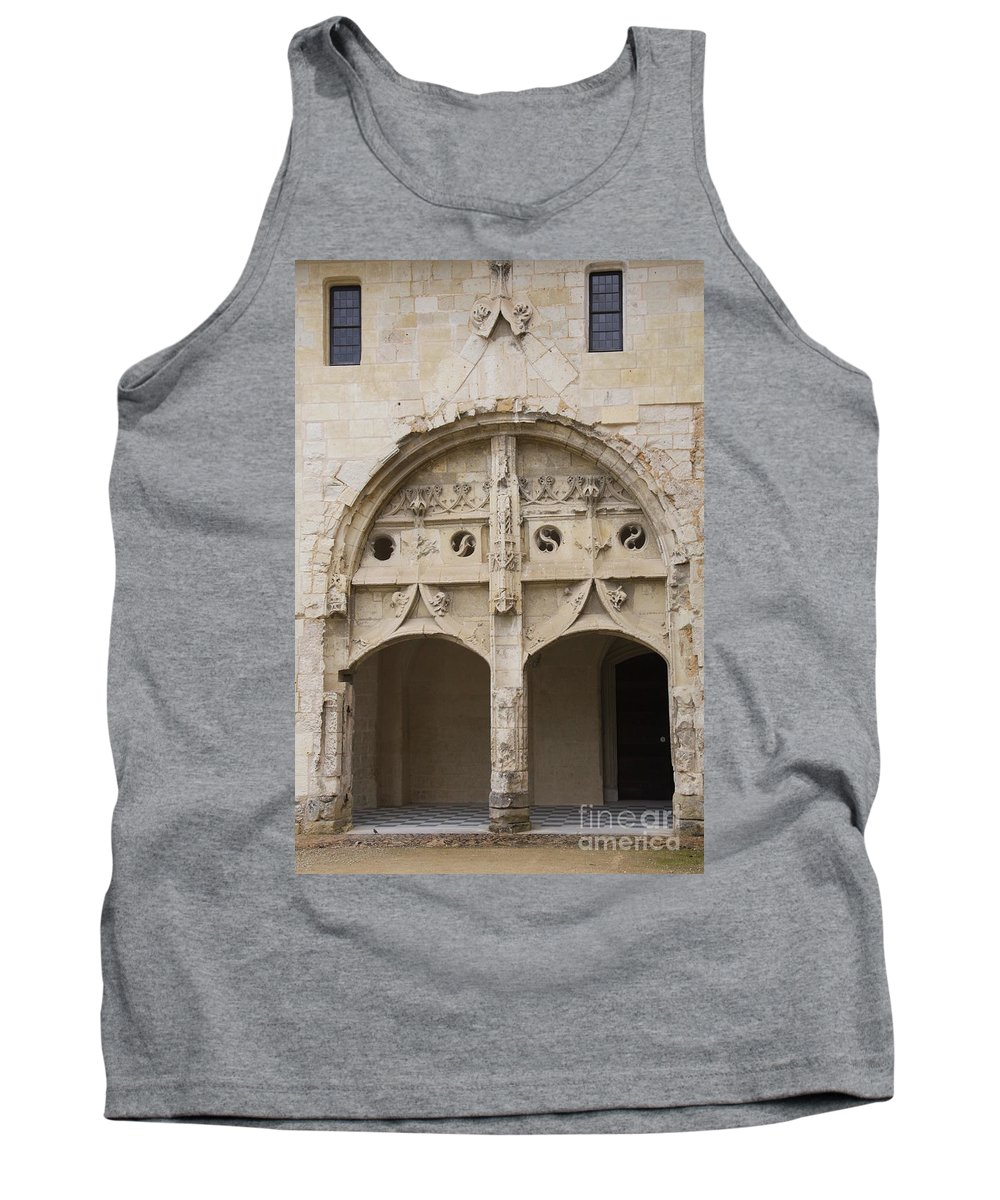 Cloister Tank Top featuring the photograph Entrance Fontevraud Abbey- France by Christiane Schulze Art And Photography