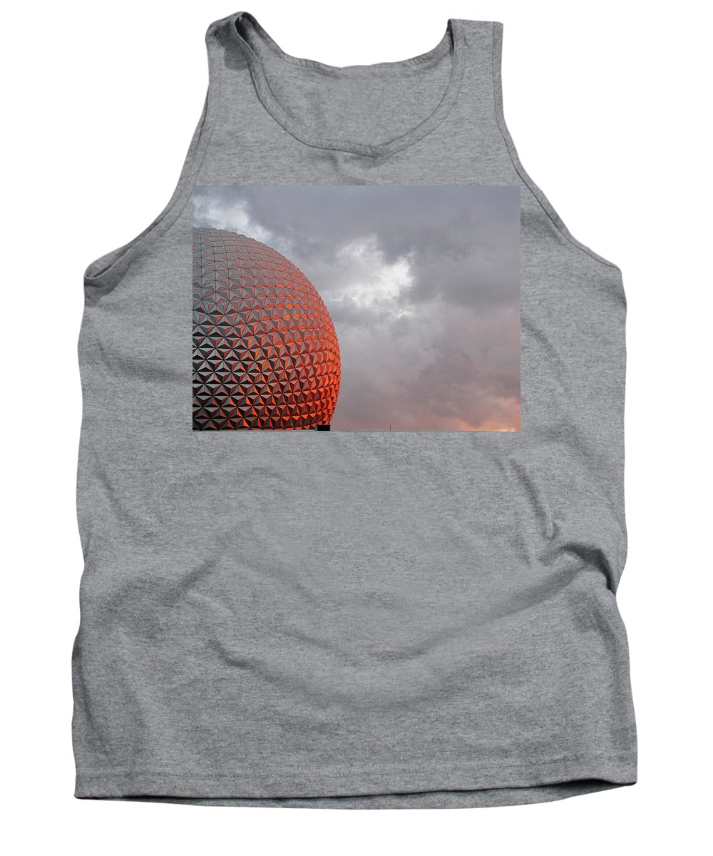 Epcot Tank Top featuring the photograph Epcot by Greg Simmons