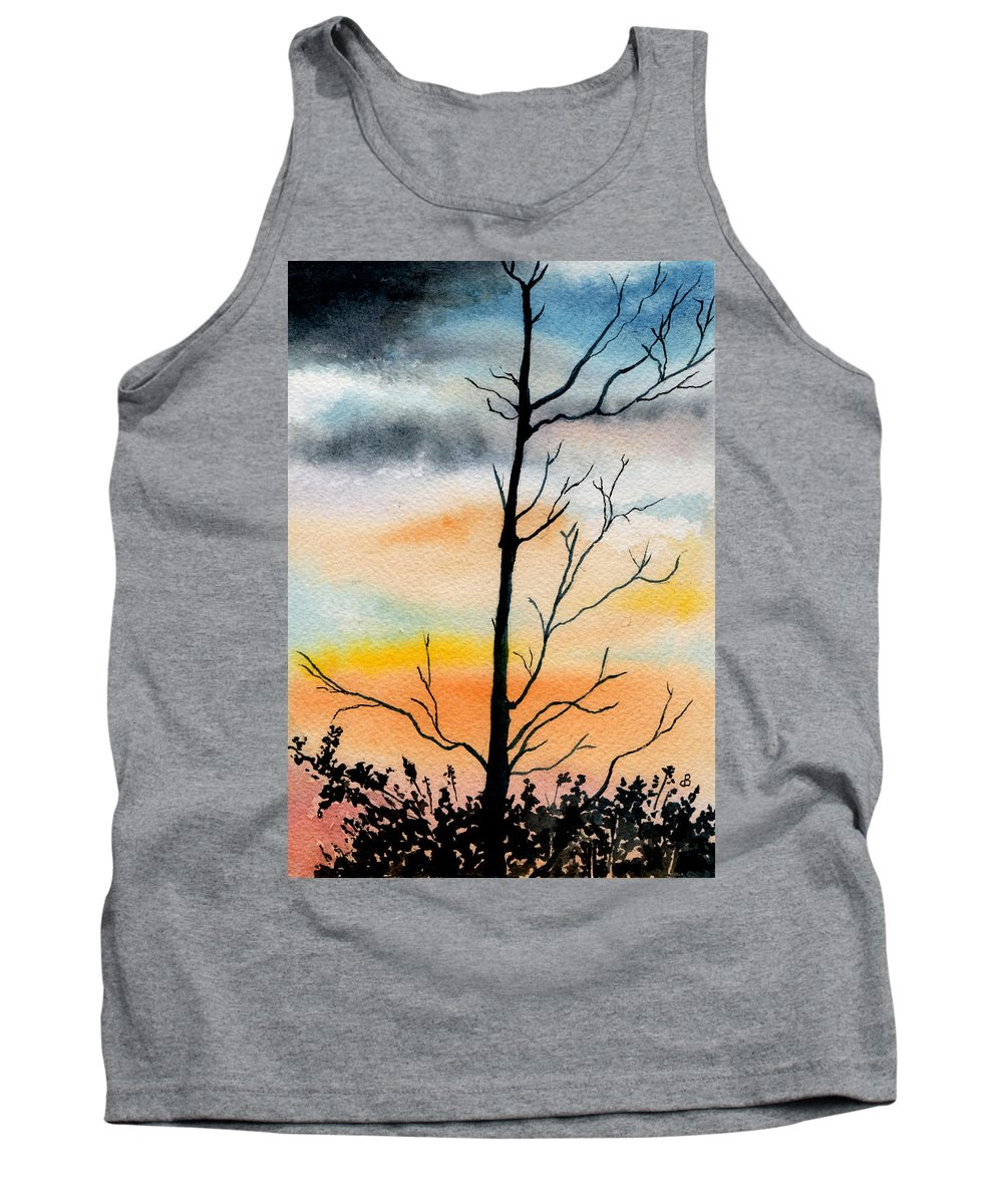 Watercolor Tank Top featuring the painting Evening Comes by Brenda Owen