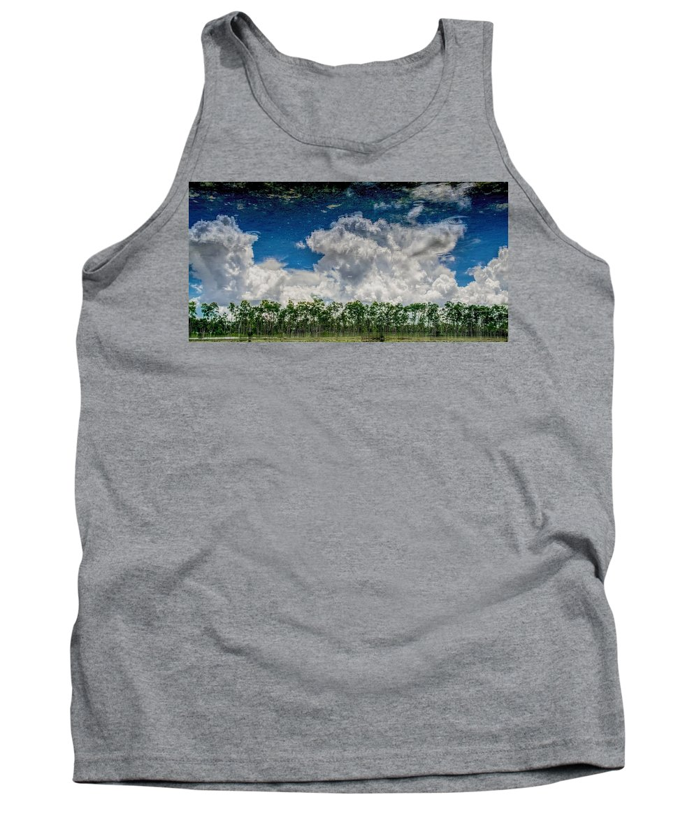 Cloud Tank Top featuring the photograph Reflected Everglades 0203 by Rudy Umans