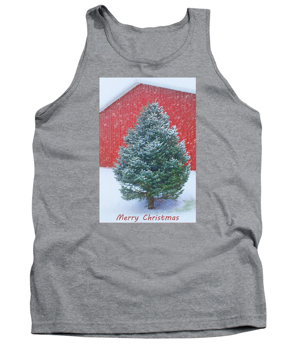Evergreen Tank Top featuring the photograph Evergreen In Winter 2 by Nikolyn McDonald