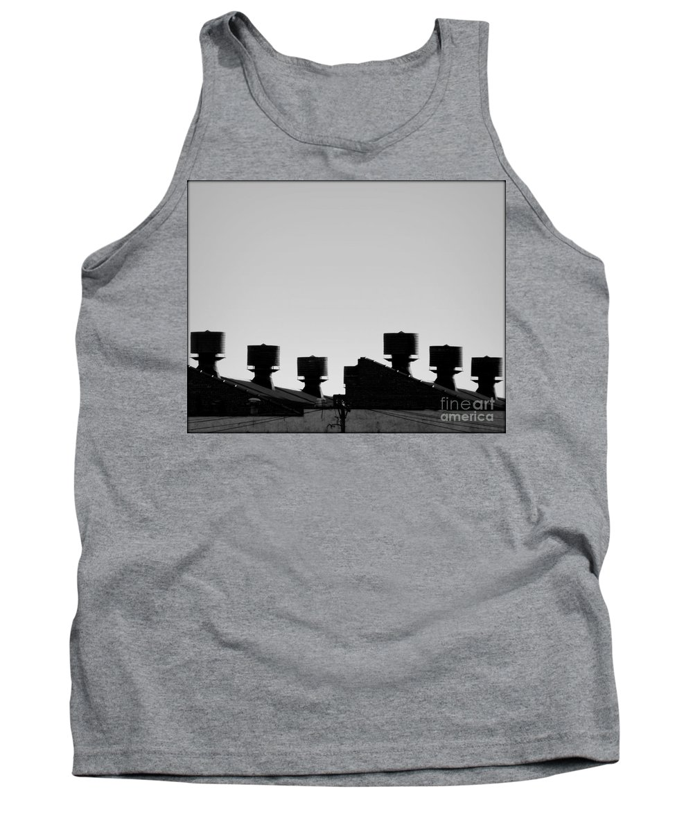 Roof Tank Top featuring the photograph Exhausted by James Aiken