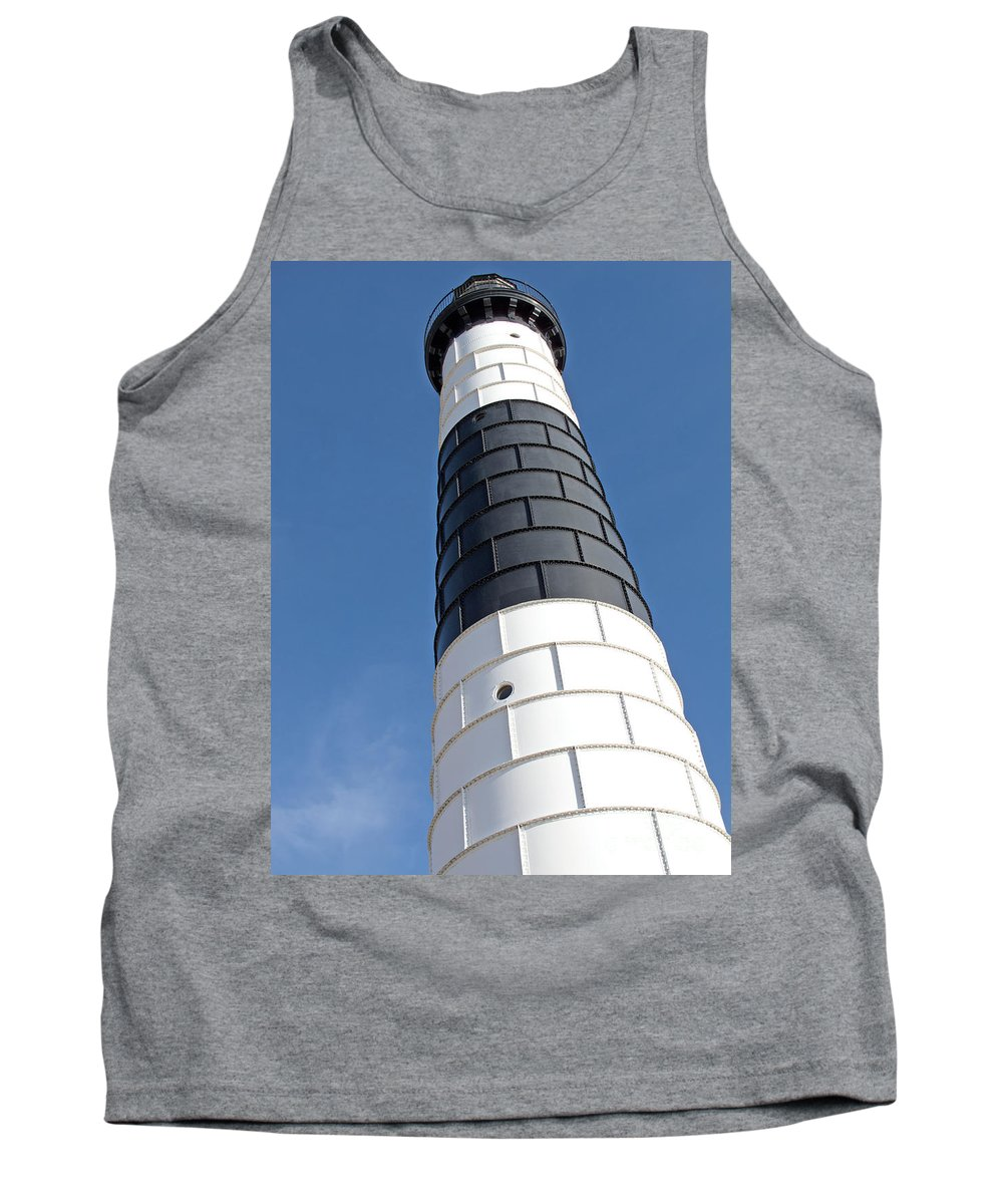 Lighthouse Tank Top featuring the photograph Eying Big Sable by Ann Horn