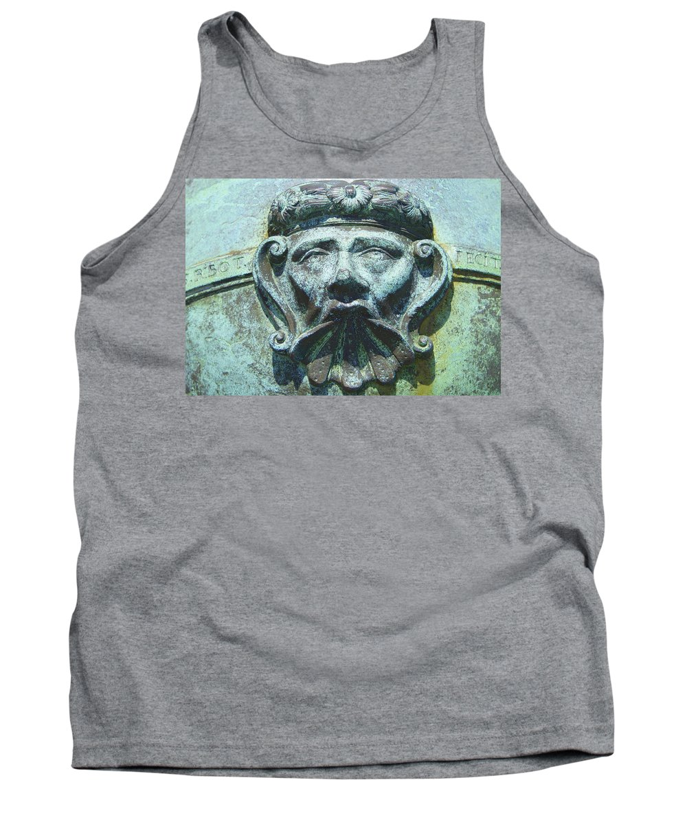 Face Tank Top featuring the photograph Face In The Cannon by Laurie Perry