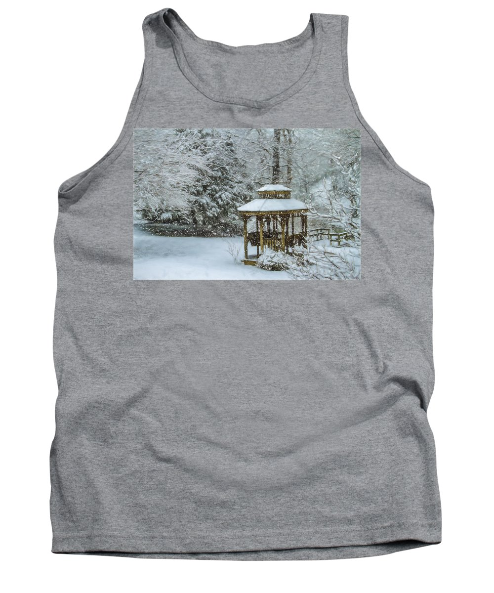 Snow Tank Top featuring the photograph Falling Snow - Winter Landscape by Barry Jones
