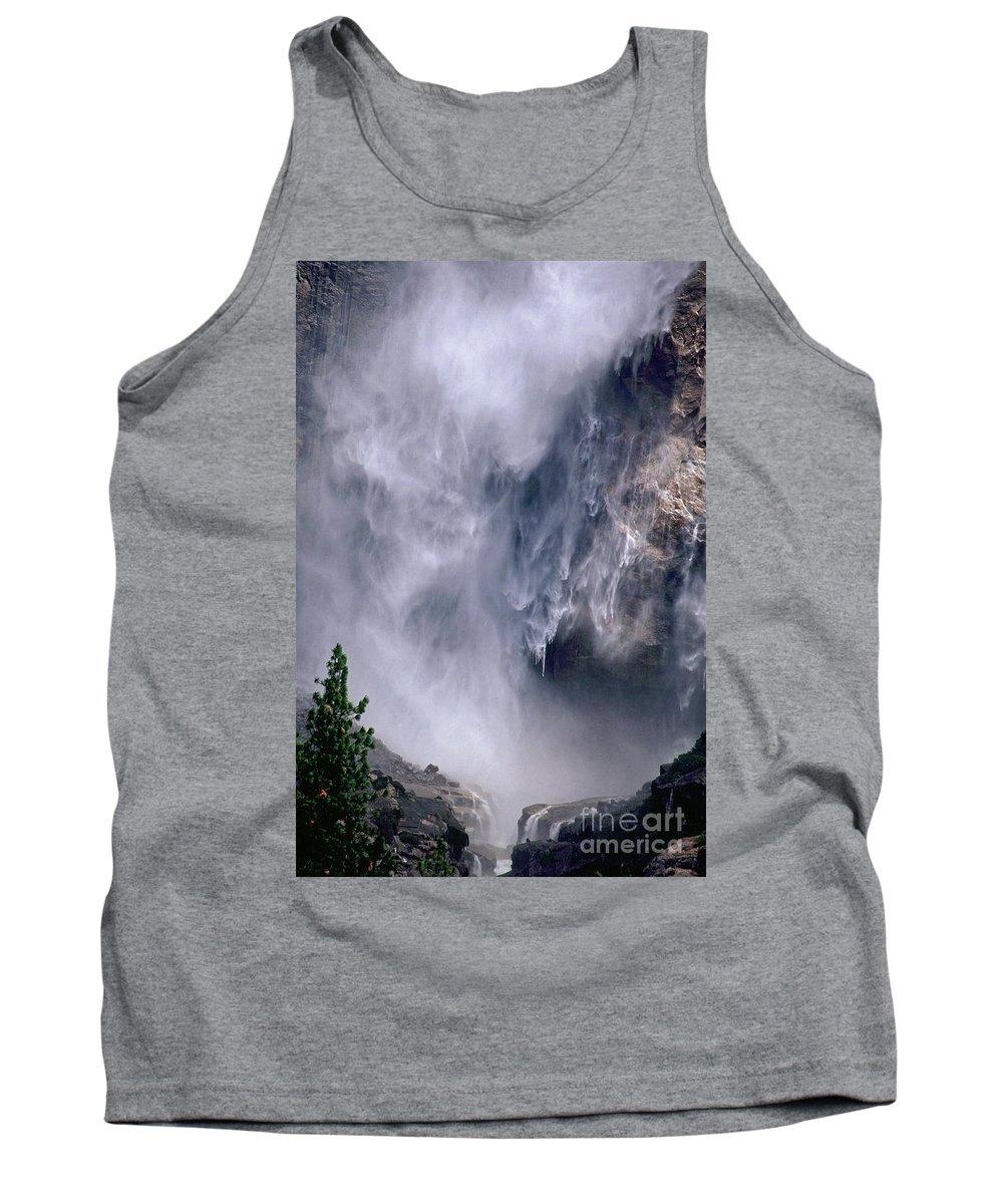 Waterfall Tank Top featuring the photograph Falling Water by Kathy McClure