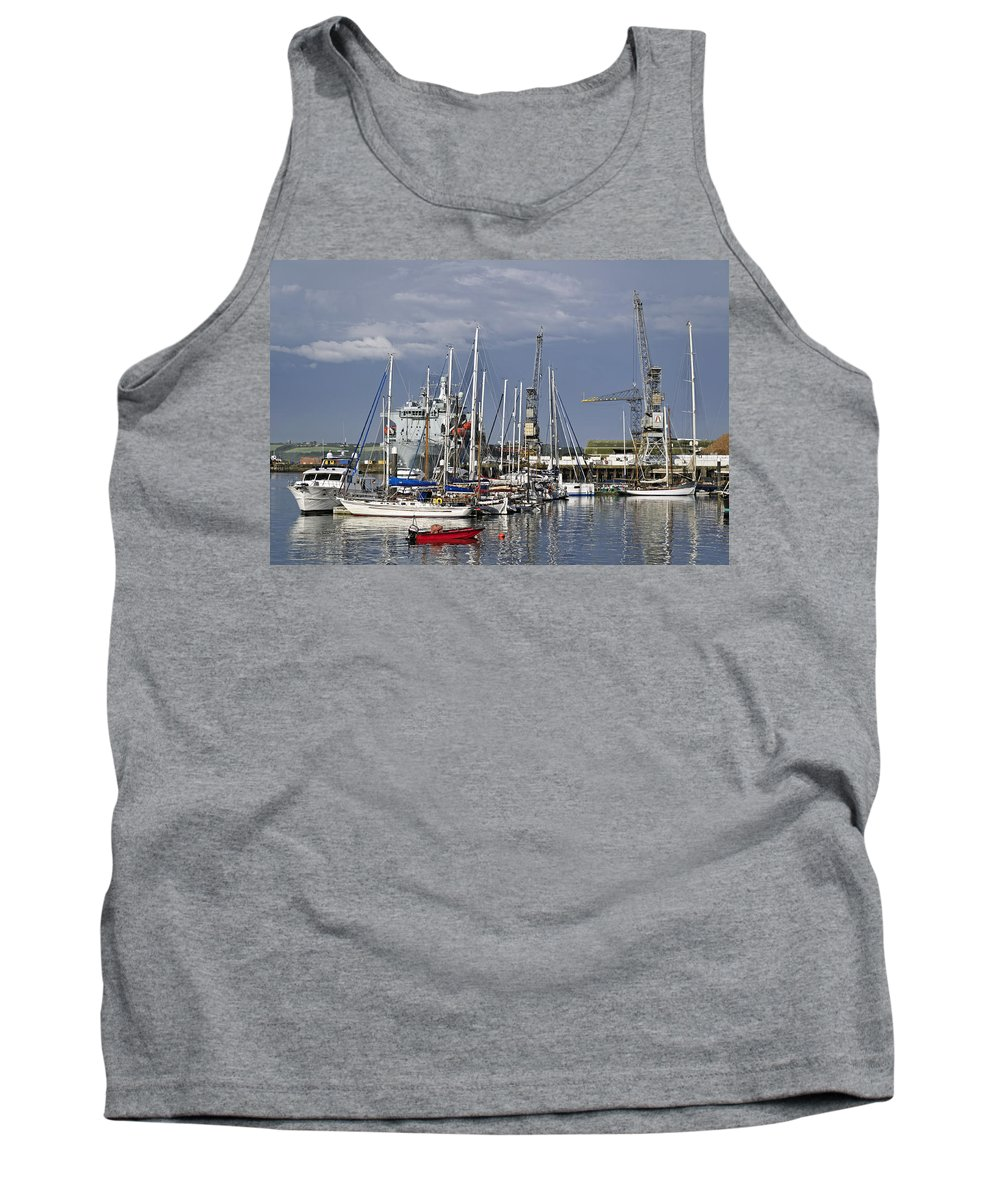 Britain Tank Top featuring the photograph Falmouth Harbour And Docks by Rod Johnson