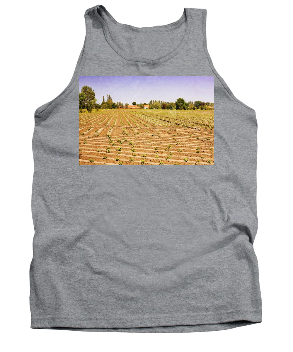 Texture Tank Top featuring the photograph Farm Landscape by Pati Photography