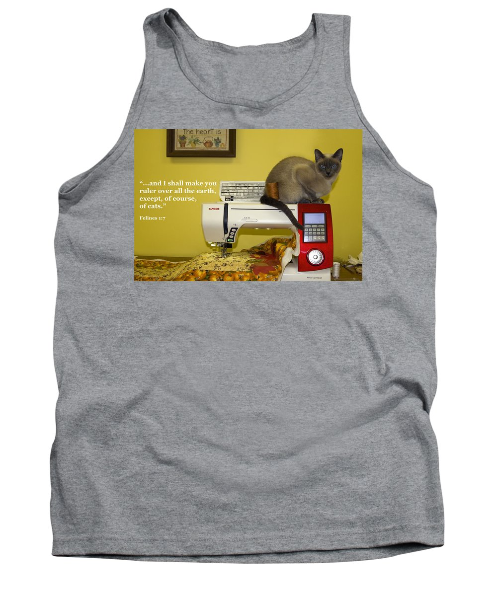 Tonkinese Cat Tank Top featuring the photograph Felines Rule by Sally Weigand