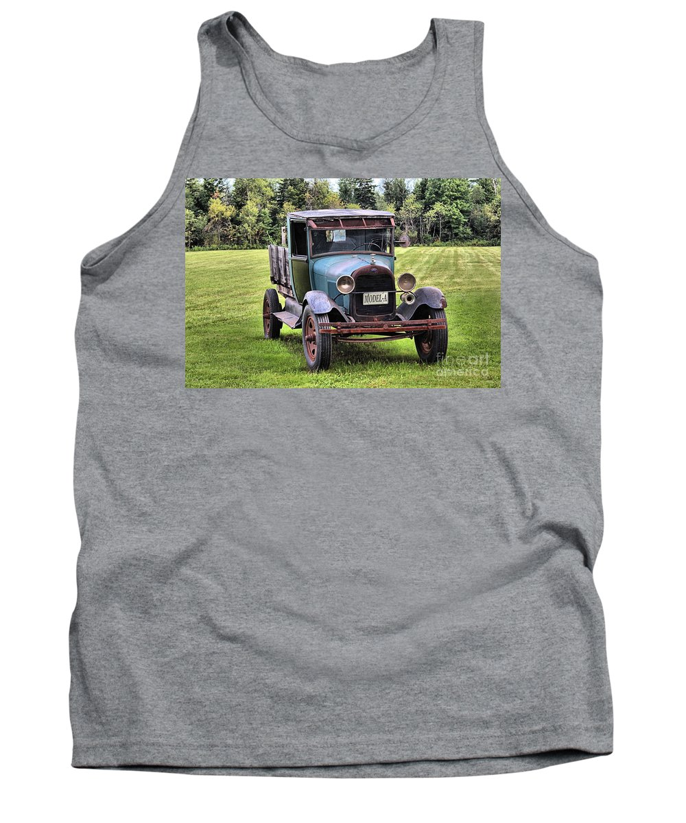 Ferland's Service Station Tank Top featuring the photograph Ferland's Model-a_1136 by Joseph Marquis