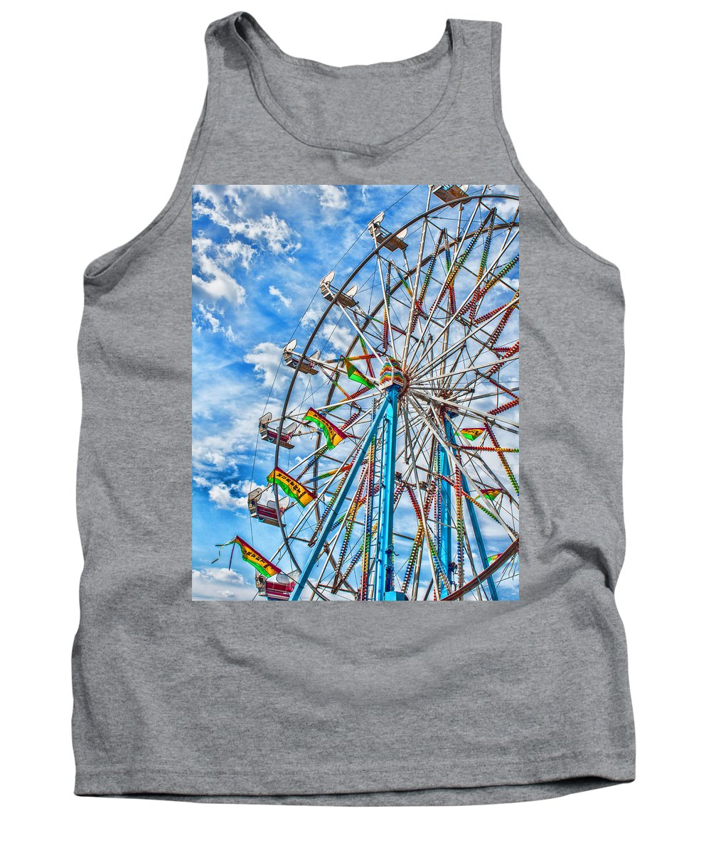 Clouds Tank Top featuring the photograph Ferris Wheel by Brian King