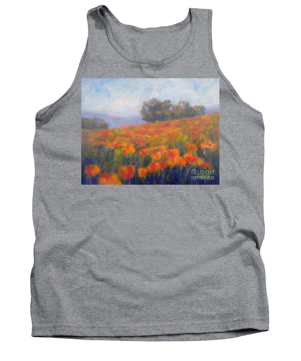 Field Of Poppies Tank Top featuring the painting Field Of Poppies by Carolyn Jarvis