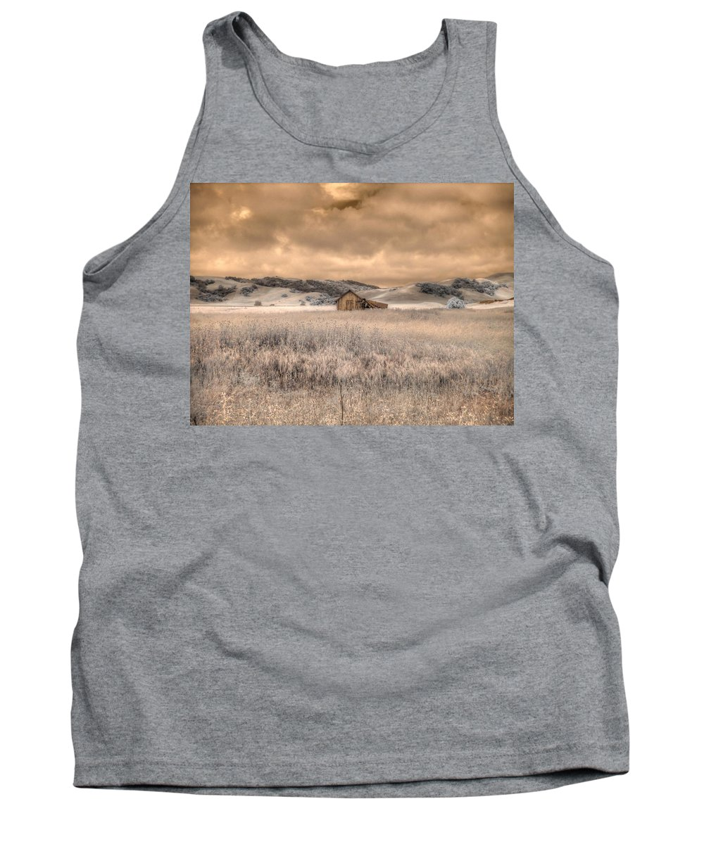 Barn Tank Top featuring the photograph Fields Of Gold by Jane Linders