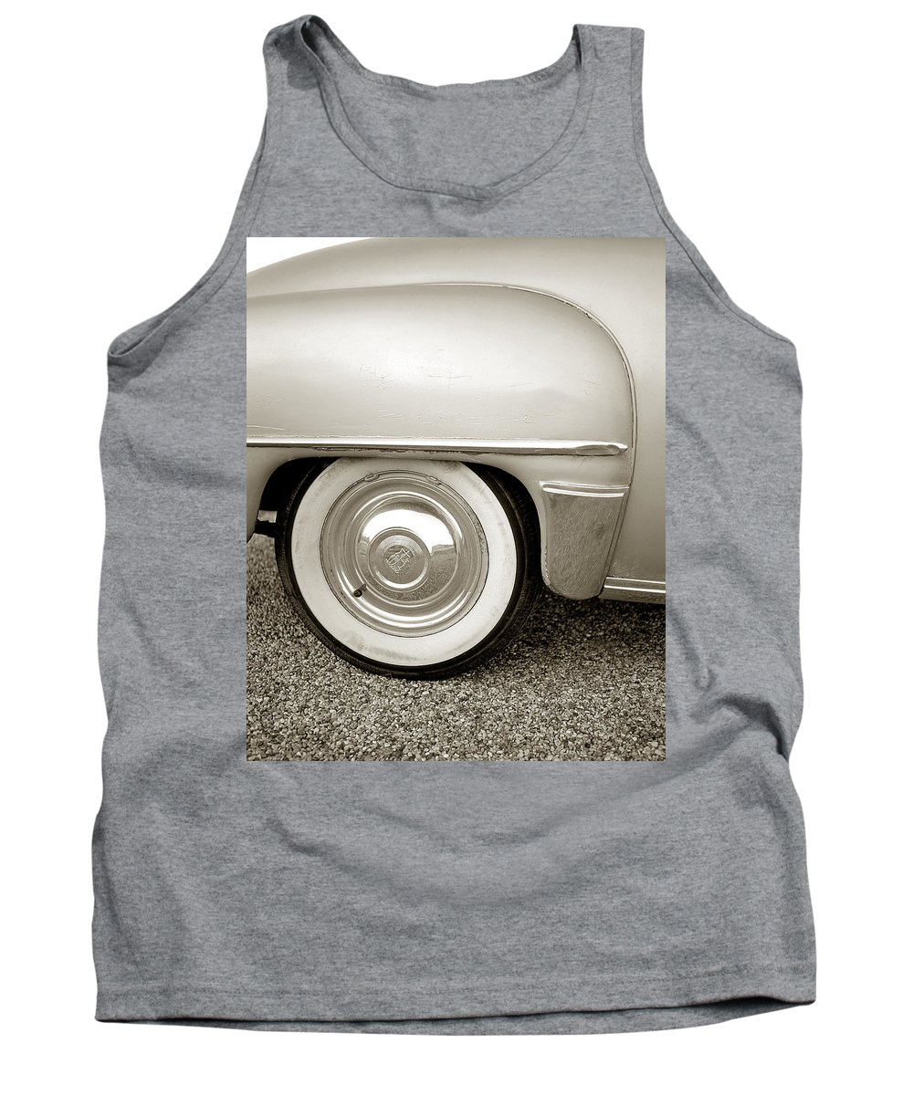 Transportation Tank Top featuring the photograph Fifties Plymouth I I by Jim Smith