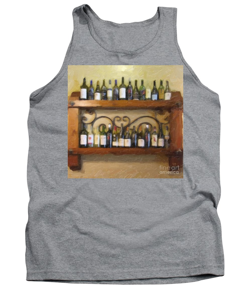 Fine Wine Tank Top featuring the painting Fine Wine by David Millenheft