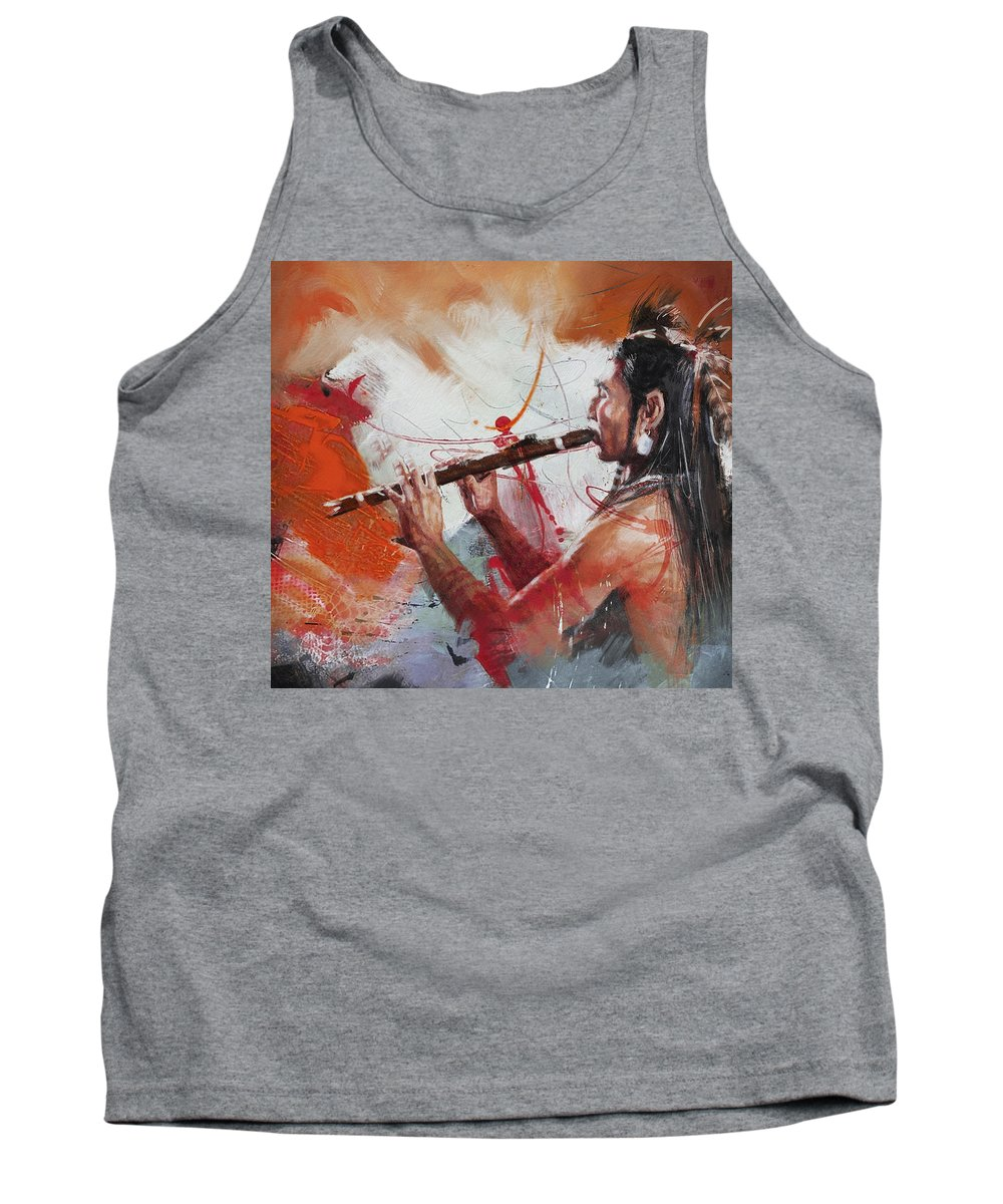 Aboriginals Tank Top featuring the painting First Nations 39 by Corporate Art Task Force