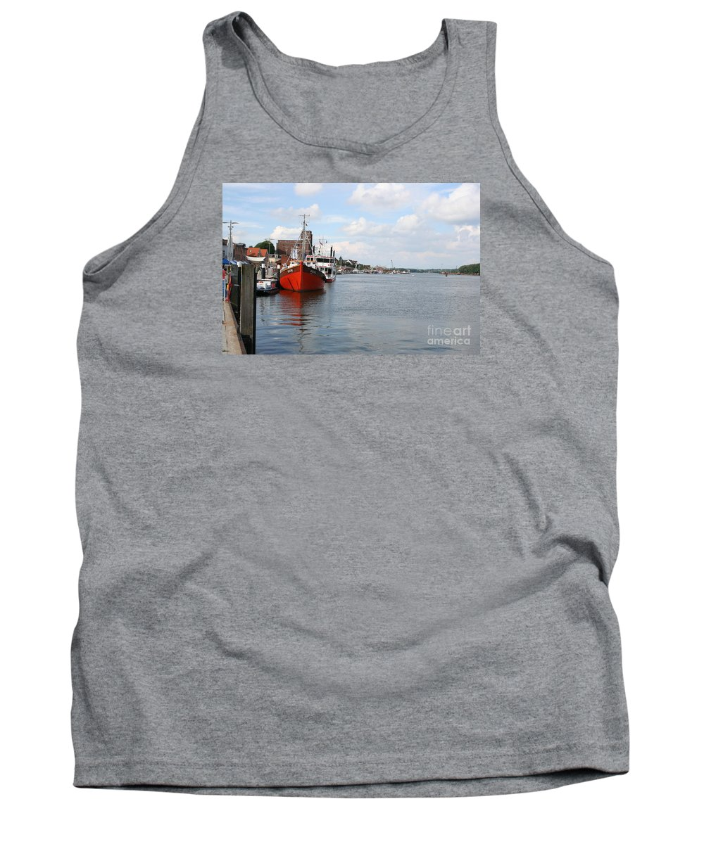 Fjord Tank Top featuring the photograph Fjord Schlei - Kappeln by Christiane Schulze Art And Photography