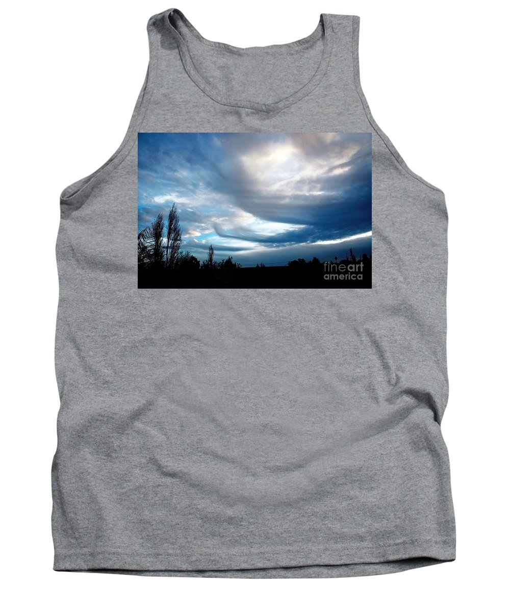 Sky Tank Top featuring the photograph Fleet Of The Gods by Ellen Cotton