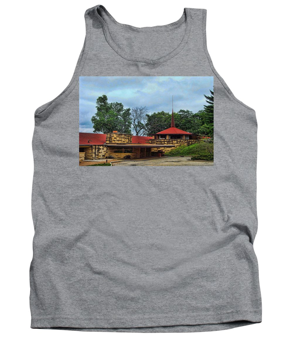 Outdoors Tank Top featuring the photograph Fllw Welcome Center - Spring Green- Wisconsin by Paulette B Wright