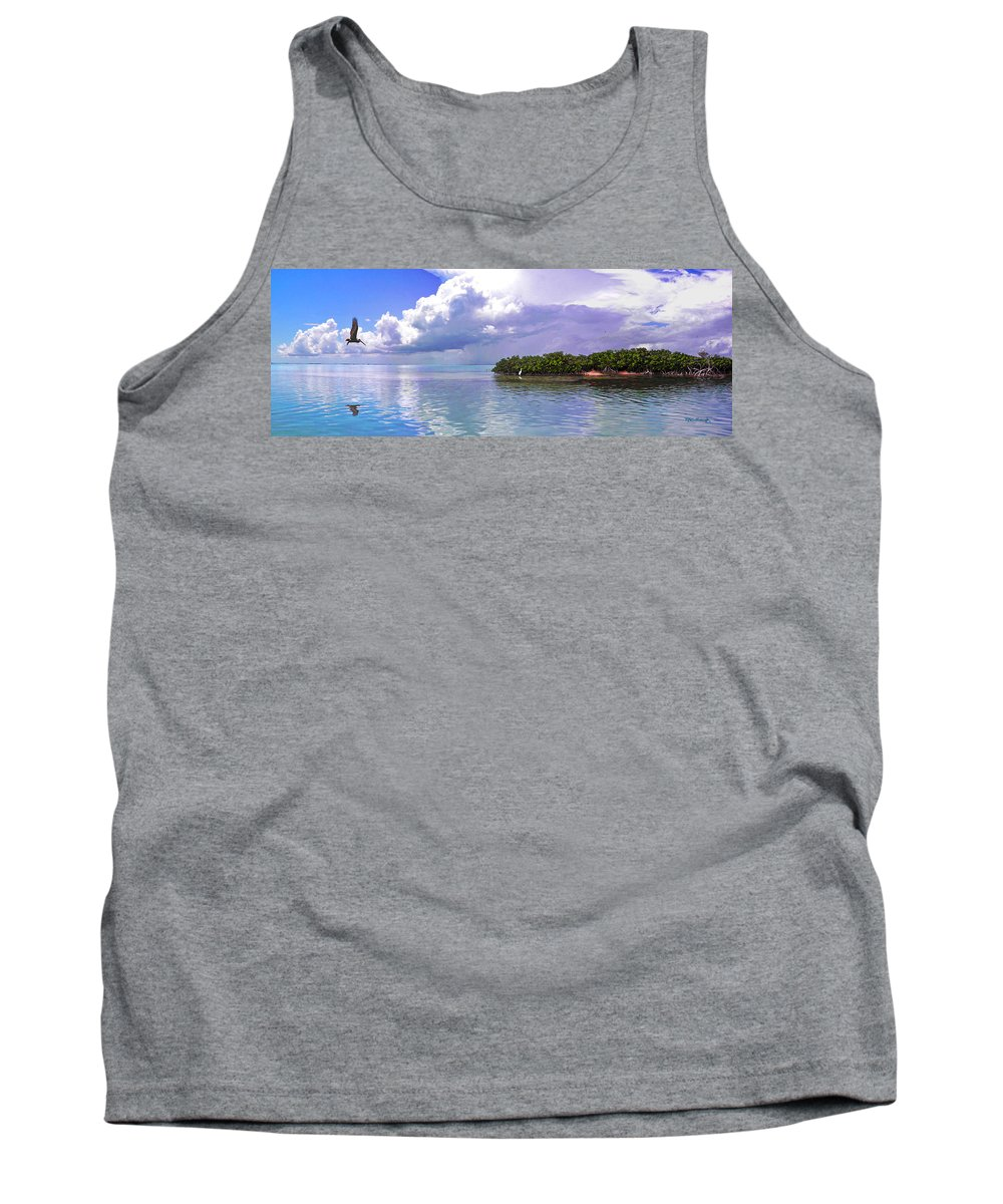 Florida Bay Tank Top featuring the photograph Florida Bay Island Filtered by Duane McCullough