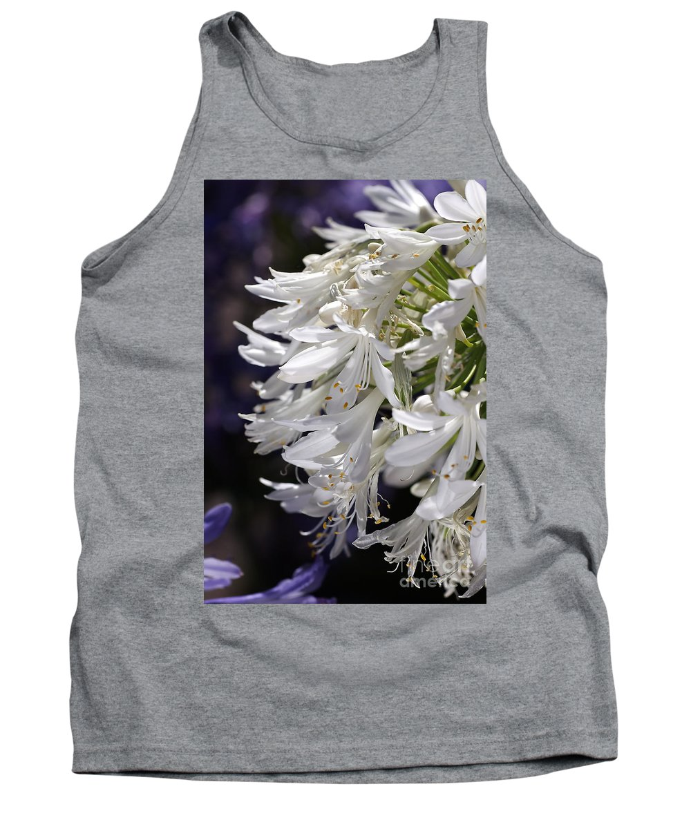 Flower Tank Top featuring the photograph Flower-agapanthus-white-flora by Joy Watson