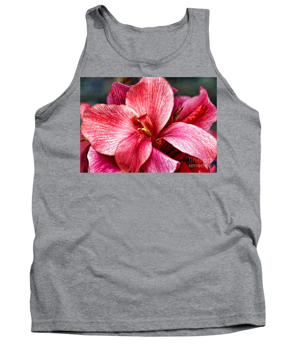 Pink Flowers Tank Top featuring the photograph Flower Power In Pink By Diana Sainz by Diana Raquel Sainz