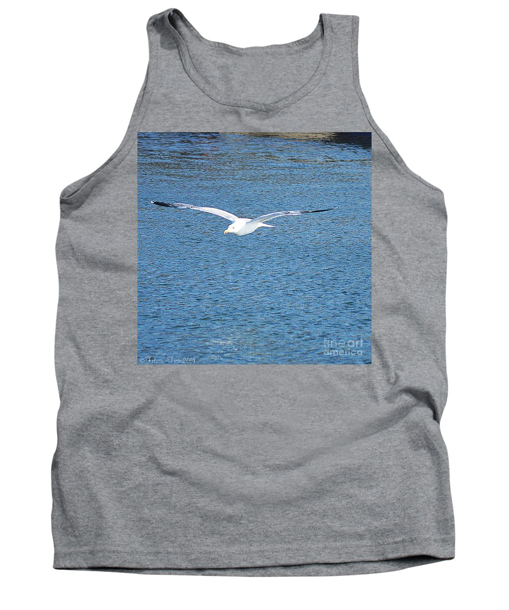 Flight Tank Top featuring the photograph Flying Free by Felicia Tica