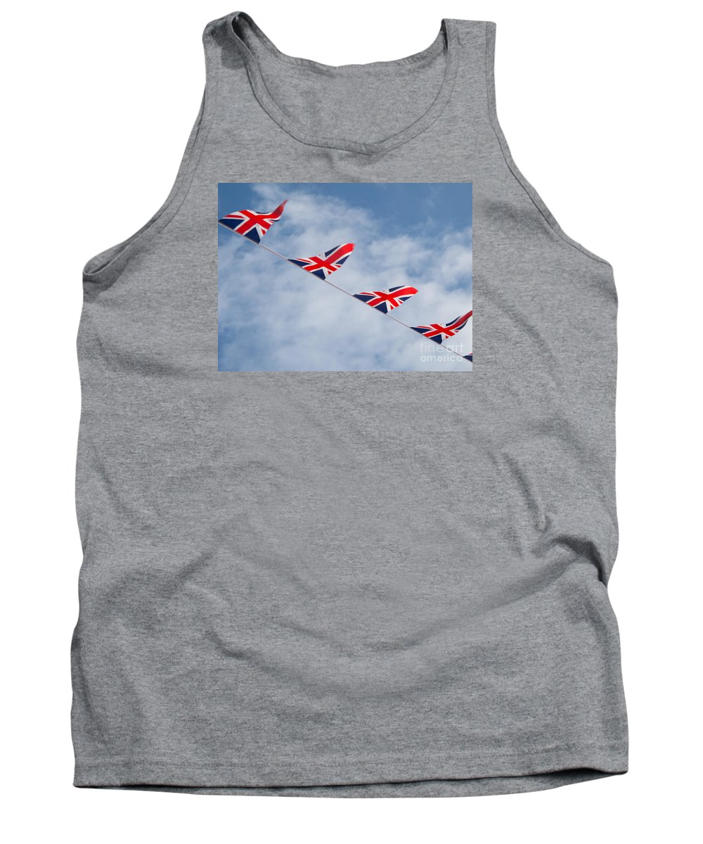Flag Tank Top featuring the photograph Flying The Union Jack by Ann Horn