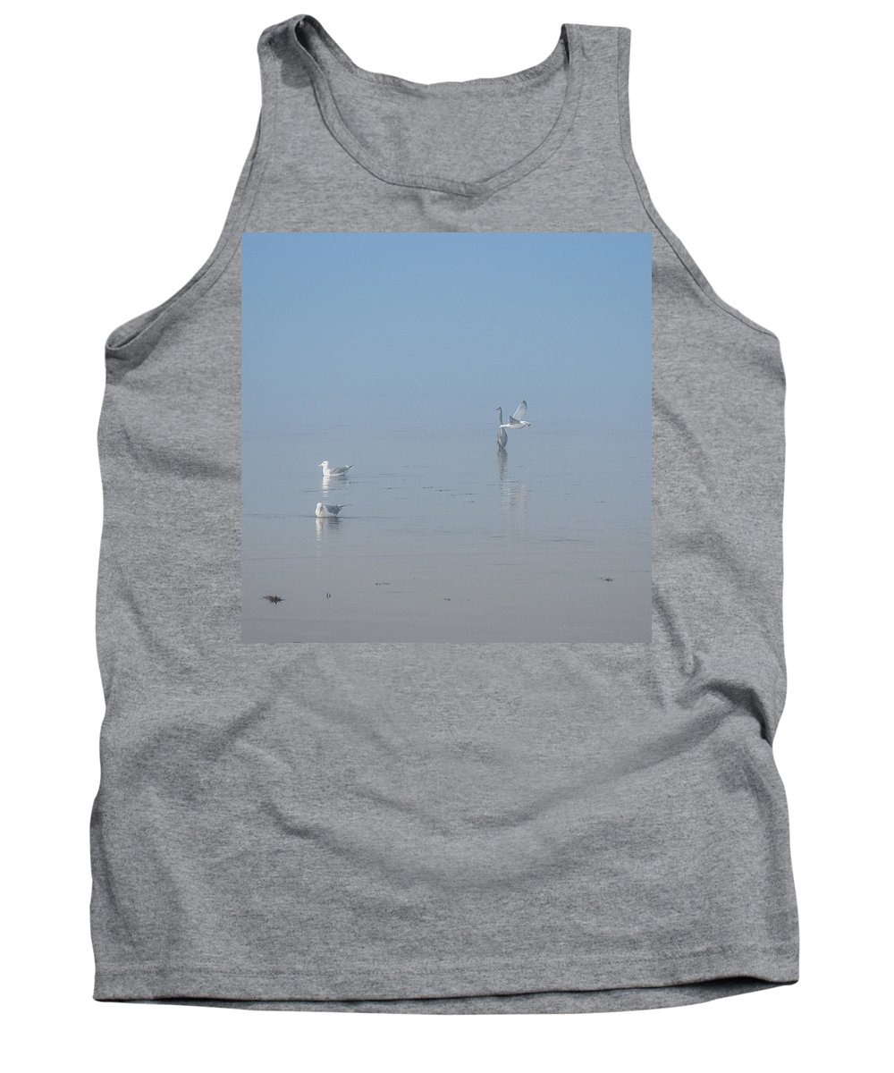 Fog Tank Top featuring the photograph Cloaked In Fog by Roxy Hurtubise
