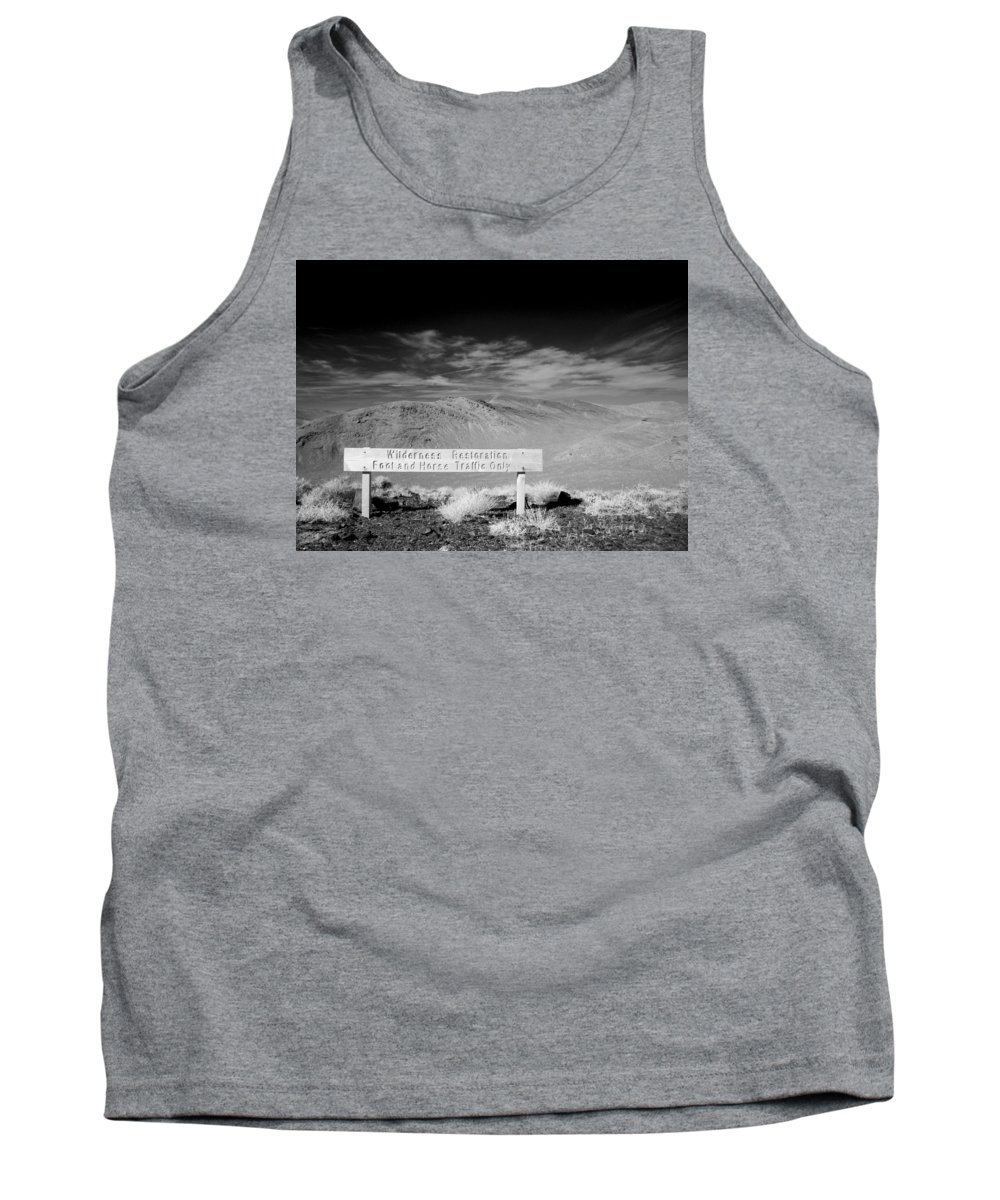 Tank Top featuring the photograph Foot And Horse Traffic Only by Jennifer Ann Henry