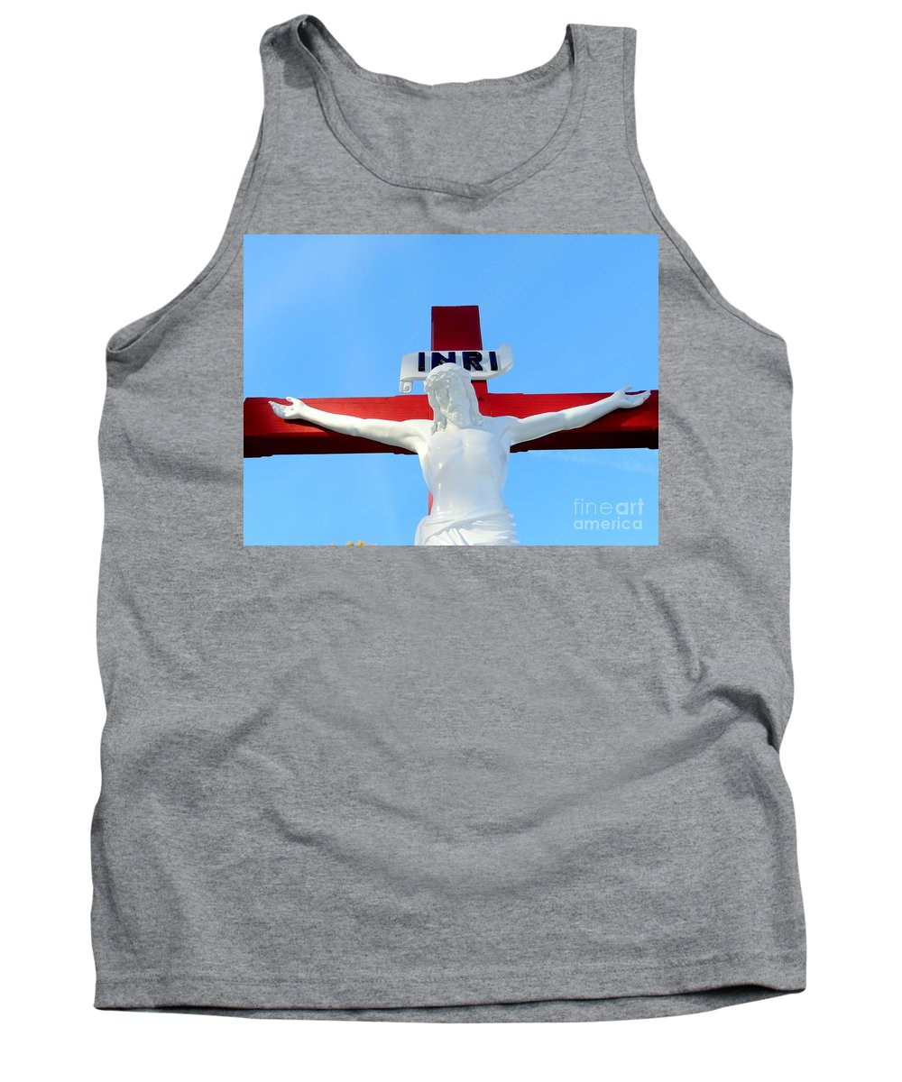 Jesus Christ Tank Top featuring the photograph For They Know Not What They Do by Ed Weidman