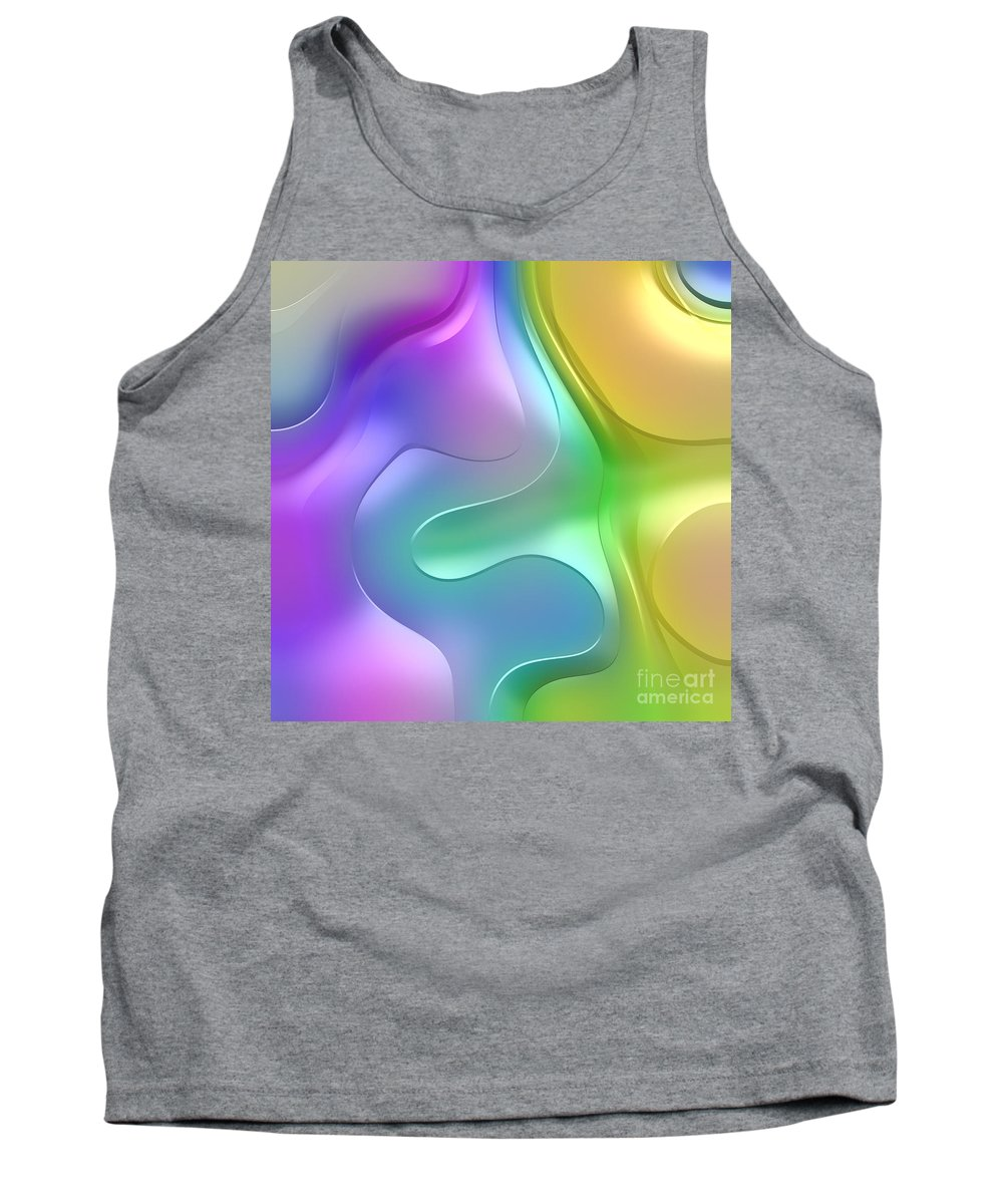 Forms Tank Top featuring the digital art Formes Lascives - 1114 by Variance Collections