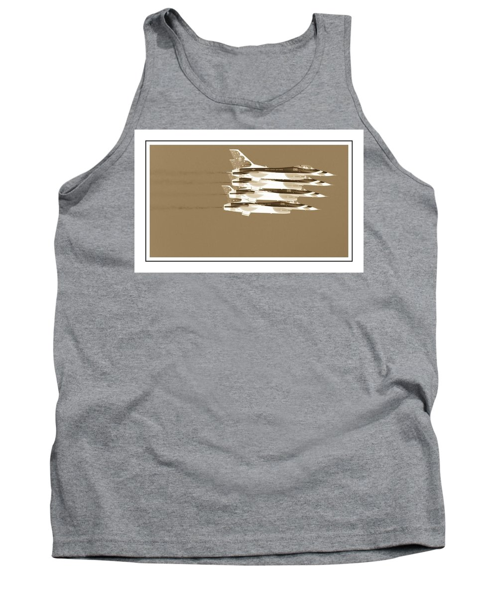 Air Show Tank Top featuring the photograph Four In A Row by Alice Gipson