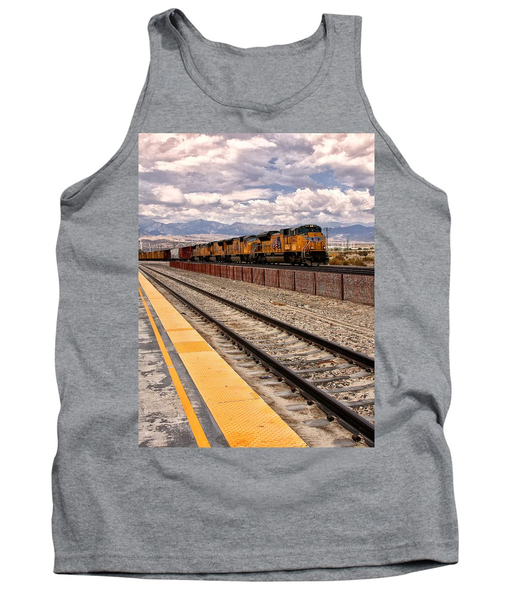 Freight Tank Top featuring the photograph Freight Expectations Palm Springs by William Dey