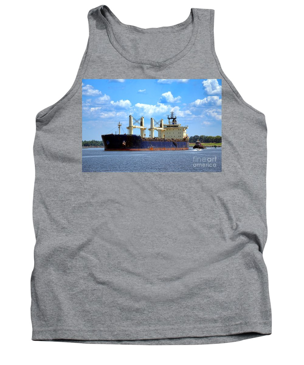 Cargo Tank Top featuring the photograph Freight Hauler by Olivier Le Queinec