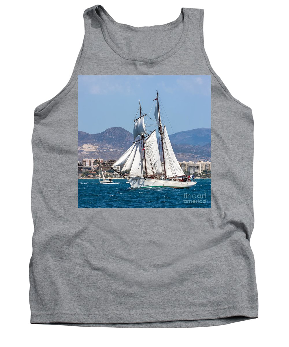 Tall Ships Tank Top featuring the photograph French Shooner Alicante by Pablo Avanzini