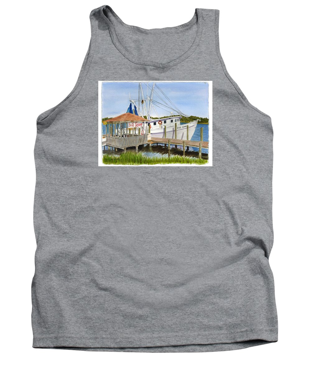 Boat Tank Top featuring the painting Fresh Shrimp by Jill Ciccone Pike