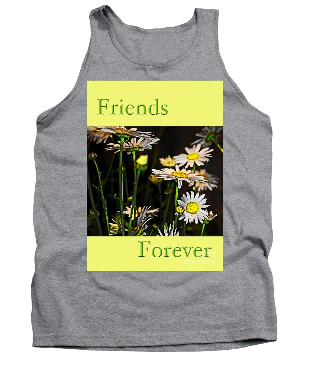 Daisy Tank Top featuring the photograph Friends Forever by Tom Gari Gallery-Three-Photography