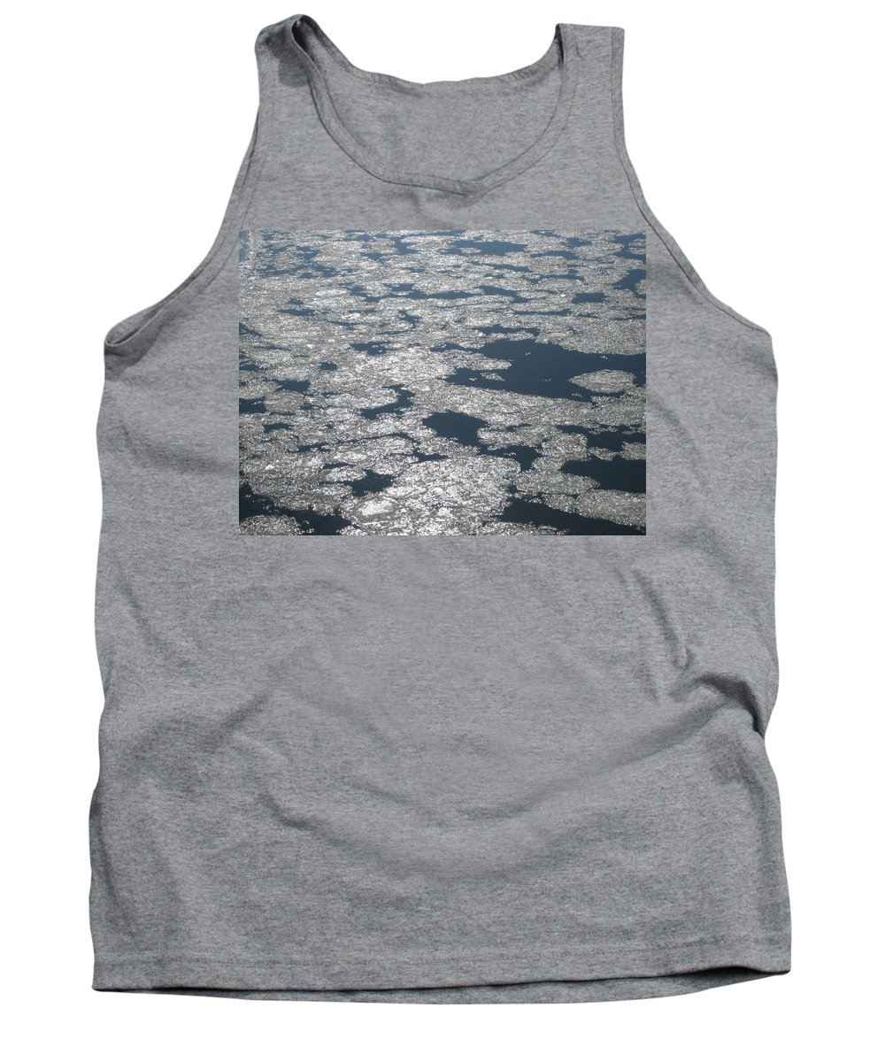 Frozen Tank Top featuring the photograph Frozen River by Hope VanCleaf