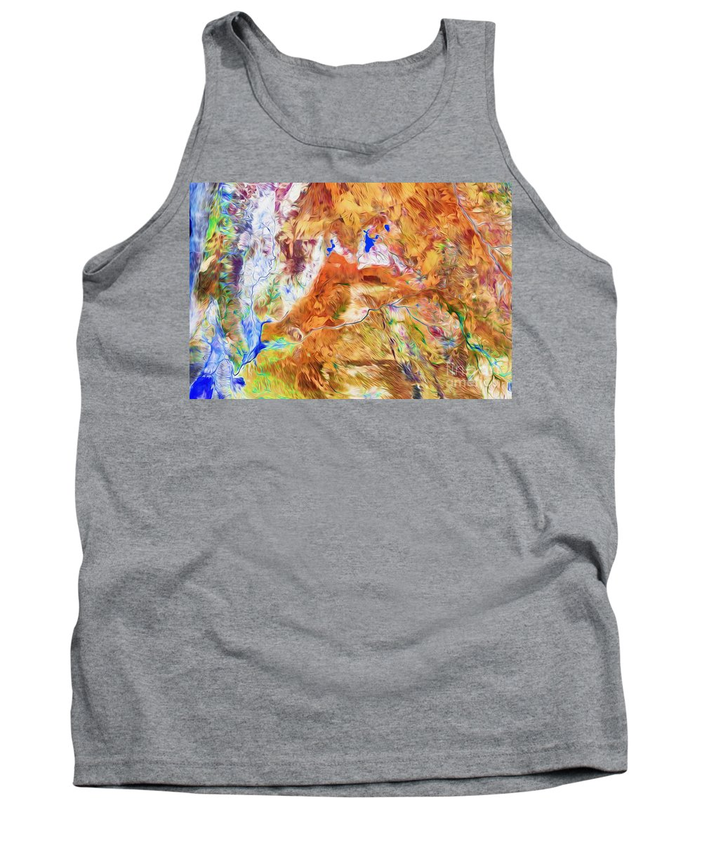 Australia Tank Top featuring the digital art Gascoyne by Phill Petrovic