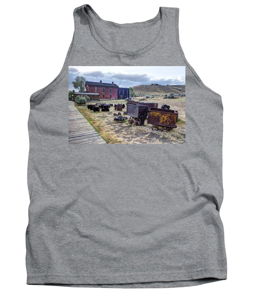 Bannack Tank Top featuring the photograph Ghost Mining Town Of Montana by Daniel Hagerman