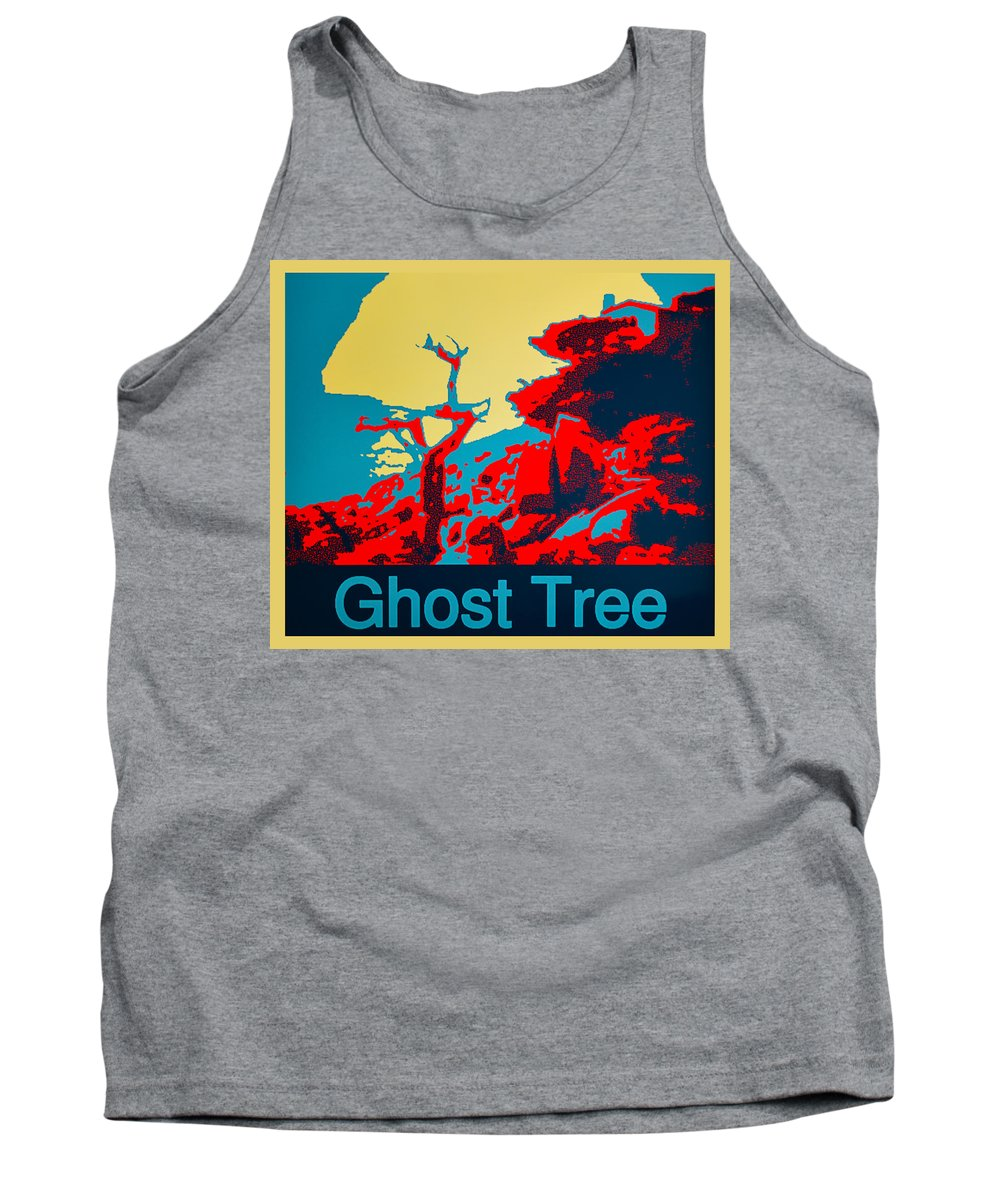 Ghost Tree 1 Tank Top featuring the digital art Ghost Tree Poster by Barbara Snyder