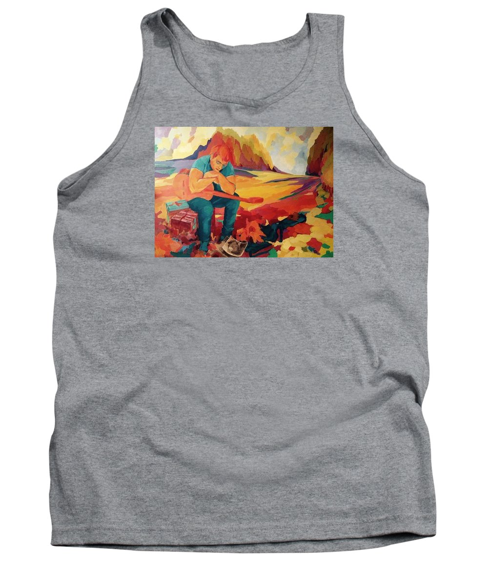Landscape Tank Top featuring the painting Ginger by Nelya Pinchuk