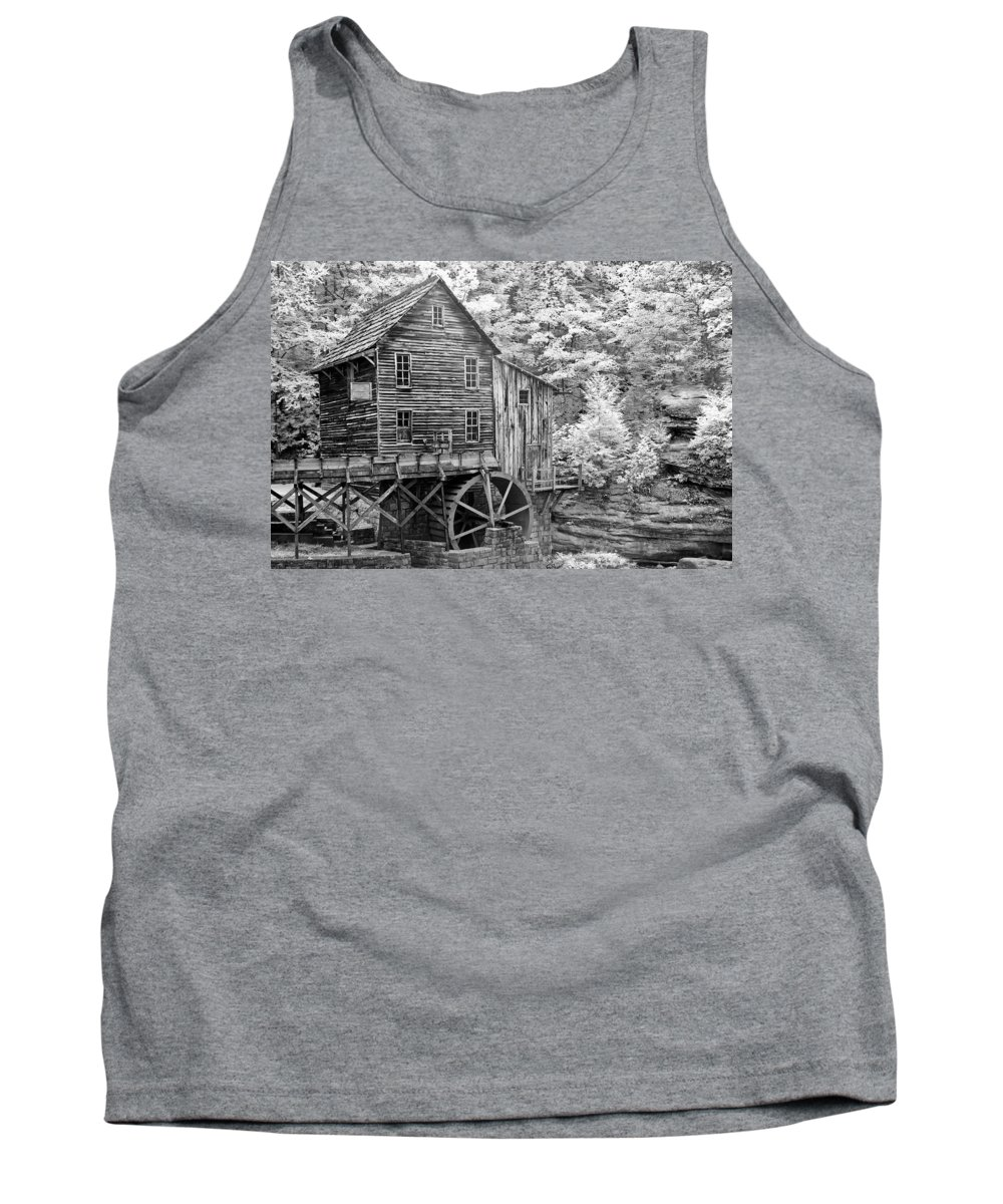 Glade Creek Tank Top featuring the photograph Glade Creek Crist Mill by Sharon M Connolly
