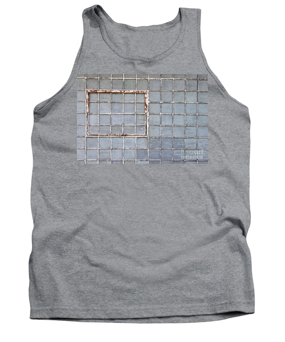 Glass Tank Top featuring the photograph Glass Brick Wall by Henrik Lehnerer