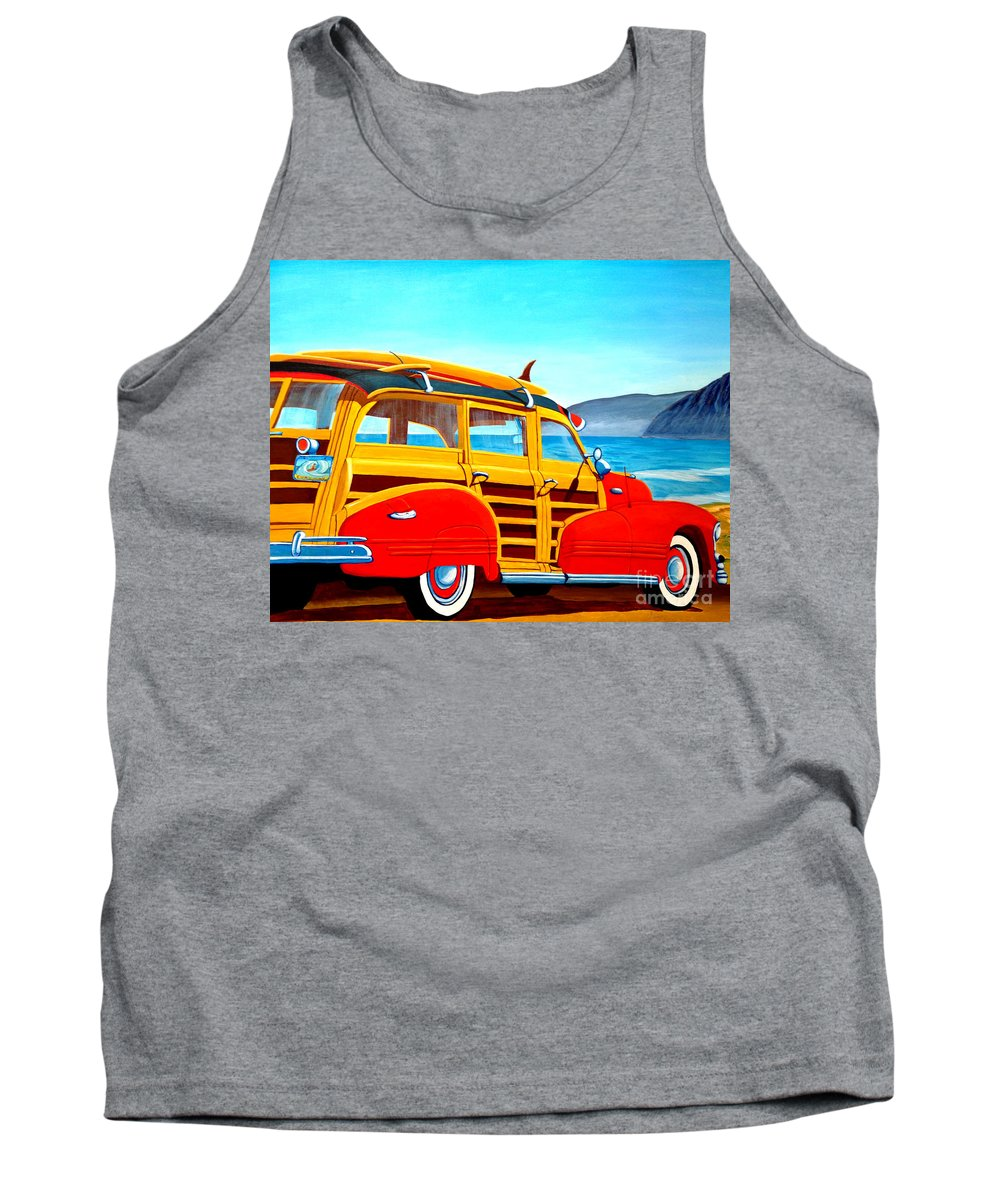 Surfing Tank Top featuring the painting Going to Surf City by Anthony Dunphy
