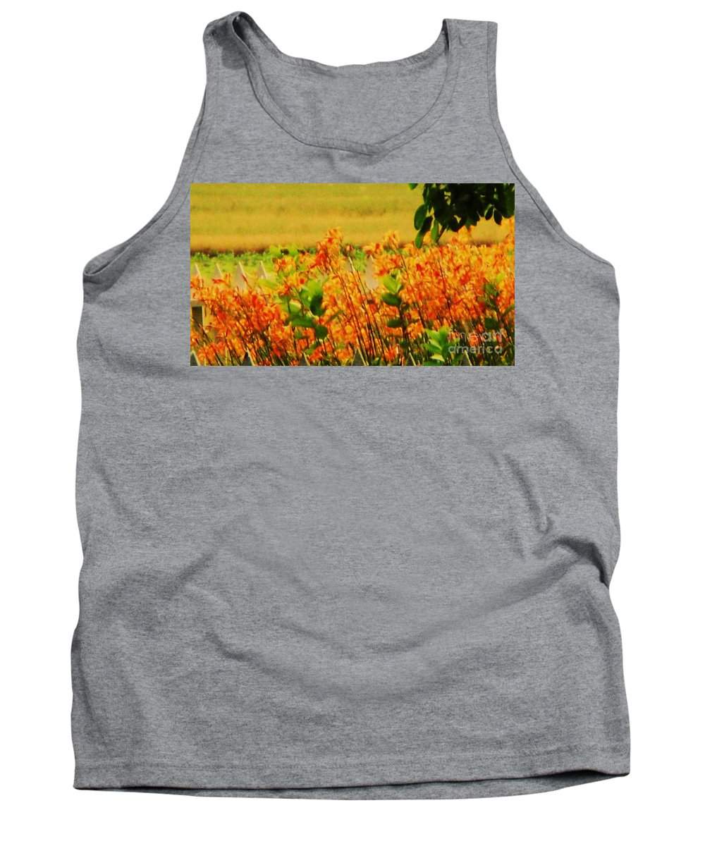 Nature Tank Top featuring the photograph Gold And Orange Landscape by Eric Schiabor
